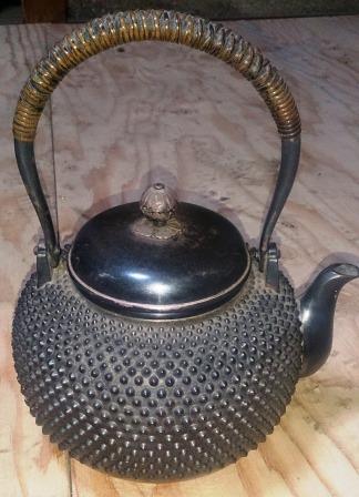 茶道具 純銀製 霰銀瓶